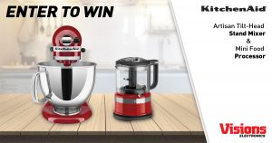 Visions Electronics – Win a prize pack of a Stand Mixer and a Food Processor