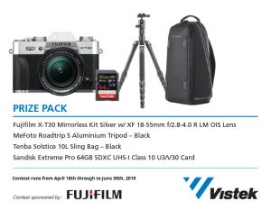 Vistek – Win a Fujifilm prize package