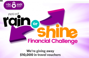 CDIC – Win a grand prize of a $5,000 travel voucher OR 1 of 2 minor prizes