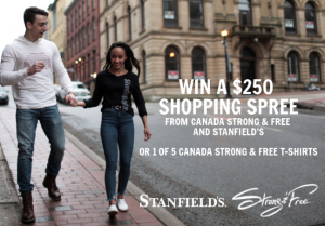 Stanfield – Win a grand prize of a $250 credit to spend online OR 1 of 5 minor prizes