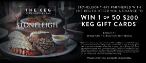 Stoneleigh – Win 1 of 50 KEG gift cards