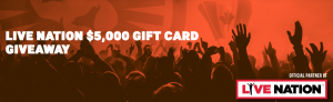 LeoVegas – Win 1 of 10 Live Nation gift cards