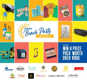 Napier – Summer Beach Party – Win a beach prize pack