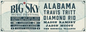 Top Country – Win 2 tickets to Big Sky Music Festival