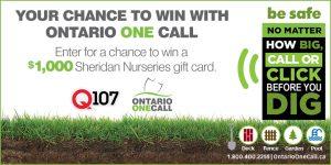 Corus – Win a $1,000 Sheridan Nurseries gift card
