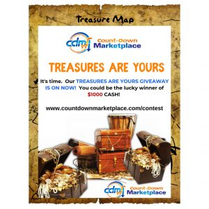Count-Down Marketplace – Win a grand prize of $1,000 cash OR 1 of 15 minor prizes