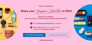 Shoppers Drug Mart – Win 1 of 4 Beauty gift cards valued at $1,000 each