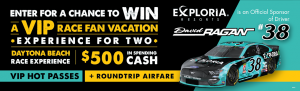 Exploria Resorts – Win a VIP Race Fan Vacation experience for 2 (flights included)