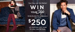 Le Chateau – Win 1 of 3 Le Chateau gift cards