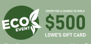 Lowe's Canada – Win a $500 gift card