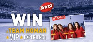 Nestle Canada – Win a trip for 2 to Toronto for a Team Homan VIP Experience