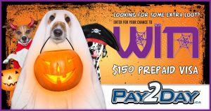 Pay2Day – Win a $150 prepaid visa gift card