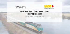 Via Rail Canada – Win a prize package including a trip from Toronto to Vancouver in a luxe cabin aboard