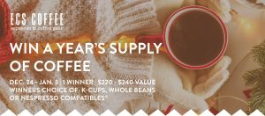 ECS Coffee – Win a year's supply of coffee
