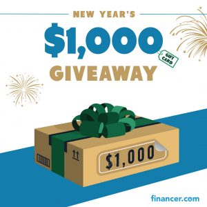 Financer – Win 1 of 5 Amazon gift cards valued at $200 each