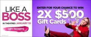 Landmark Cinemas – Win 2 gift cards valued at $500 each