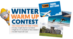 Wonderlist – Win a major prize of a trip for 2 to Australia or New Zealand OR 1 of 2 minor prizes