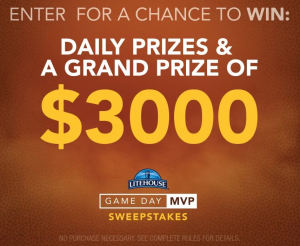 Litehouse – Win a grand prize of $3,000 OR many other daily prizes