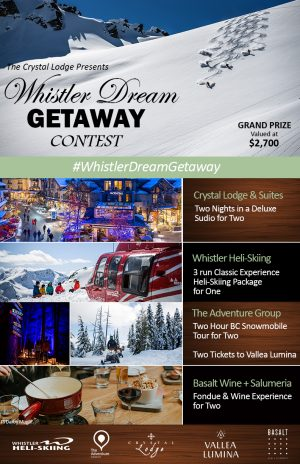 The Crystal Lodge & Suites – Win a Whistler Dream prize package