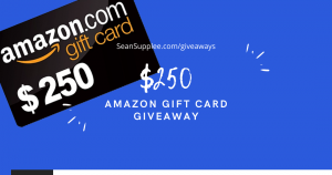 SeanSupplee – Win a $250 Amazon Gift Card