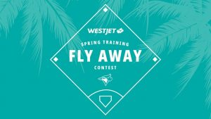 WestJet – Blue Jays – Win 1 of 5 prize packs of a trip for 2 to Tampa Bay, Florida and more