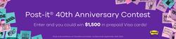 Win Hamster Post it 40th Anniversary Contest