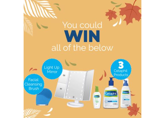 Cetaphil  – Win a tabletop light-up makeup mirror, products and more
