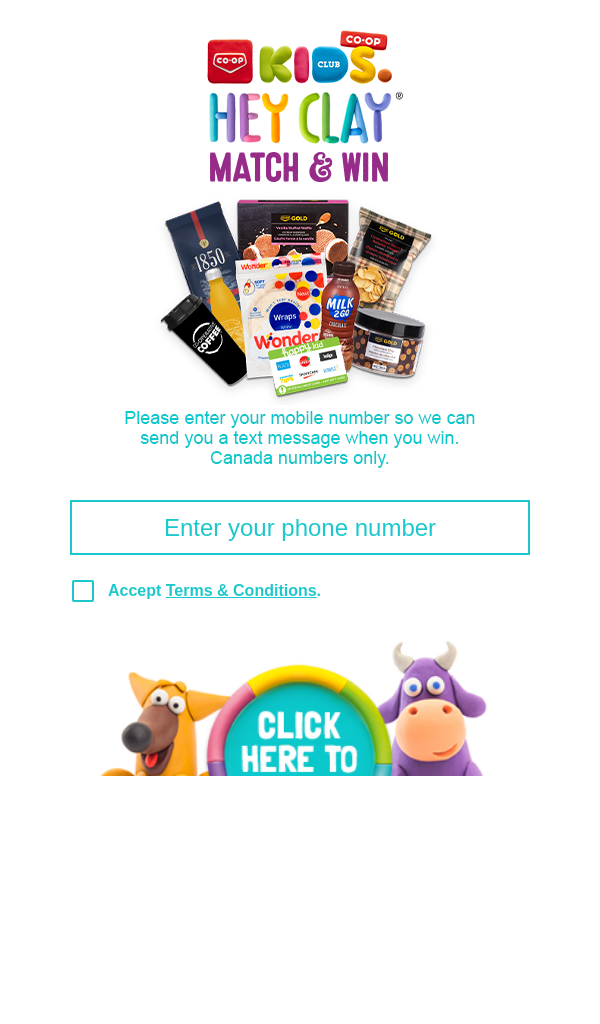 Co op Hey Clay Match & Win Contest
