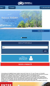 Cruises Inc – Win a Bahamas Cruise for 2