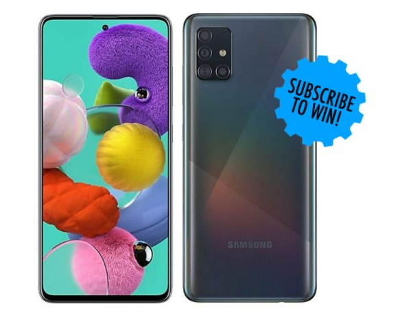 GetConnected  – Win a Samsung Galaxy A51 Smartphone valued at $429