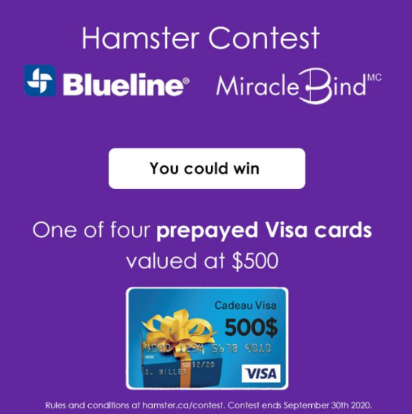 Hamster Post-It 40th Anniversary  – Win $1,500 at hamster.ca/contest