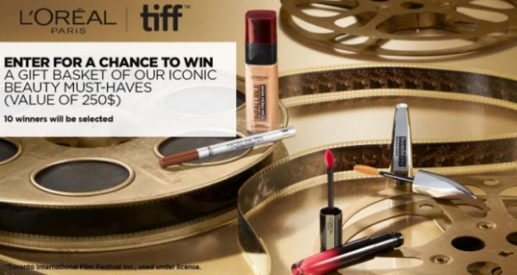 L'Oréal Paris TIFF  – Win a must-haves prize pack valued at $250