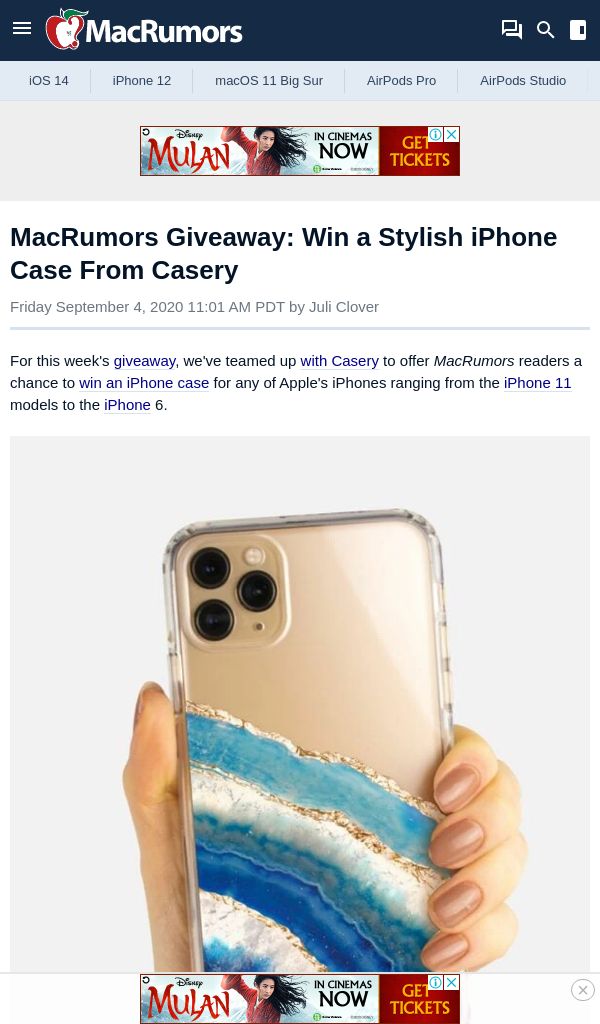 MacRumors – Win a Stylish iPhone Case From Casery