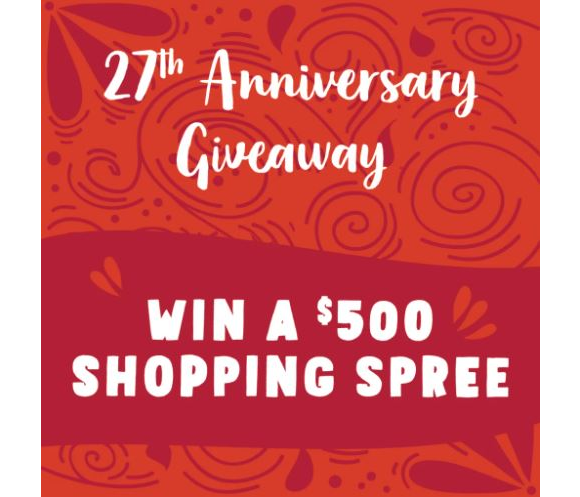Nature's Fare Markets 27th Anniversary Giveaway – Win $500 shopping sprees