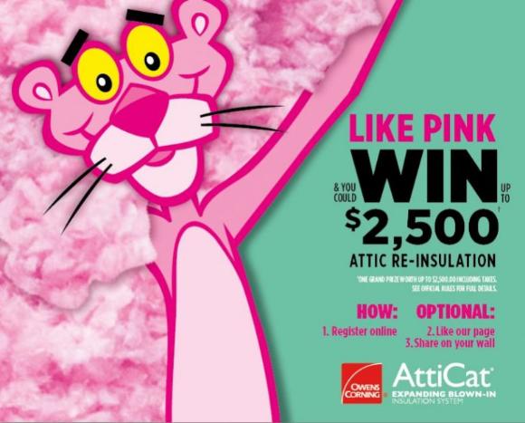 Owens Corning 2020 – Win a $2500 attic re-insulation
