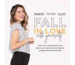 Ricki's Fall in Love with Yourself  – Win a fall prize package worth more than $1000