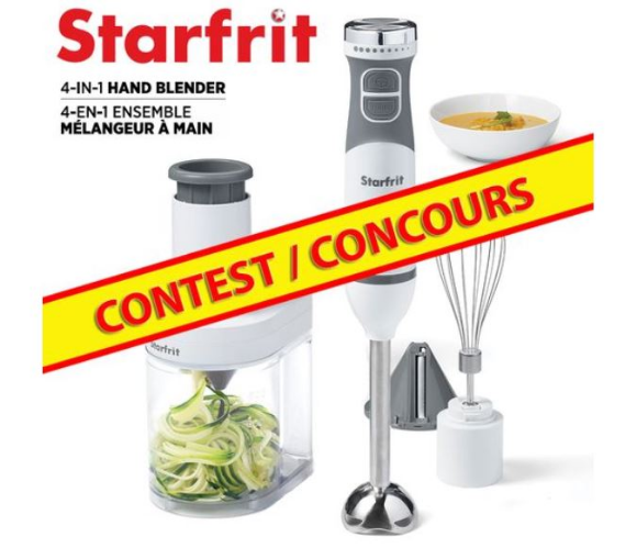 Starfrit  – Win a 4-in-1 Electric Hand Blender