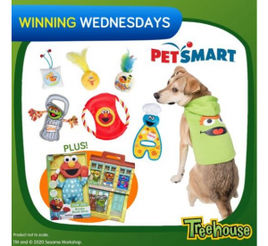 Treehouse  – Win a Petsmart prize pack for your pet including a hoodie + 6 toys