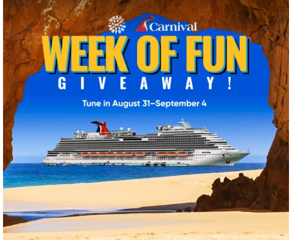 Wheel of Fortune Carnival Week of Fun Giveaway – Win a cruise for 2