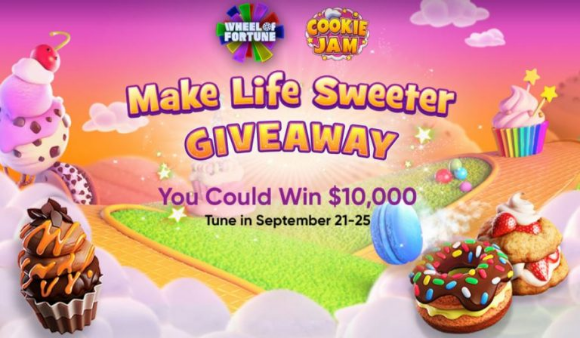 Wheel of Fortune Cookie Jam Giveaway – Enter the puzzle solution and win at wheeloffortune.com