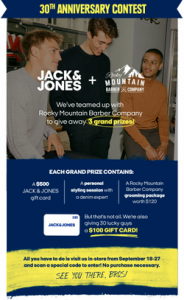 Win Jack and Jones $500 Shopping Spree Contest
