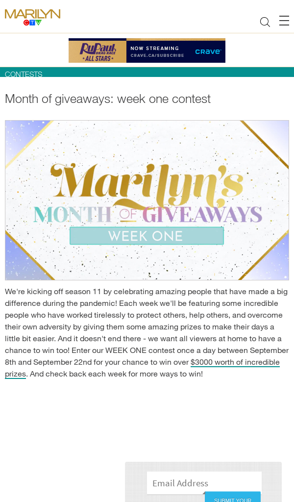Win MARILYN'S Month of Giveaways Week One Contest