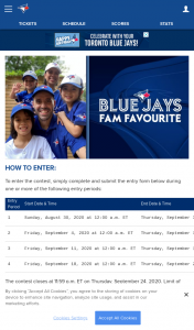 Win MLB / Toronto Blue Jays Family of the Game Contest