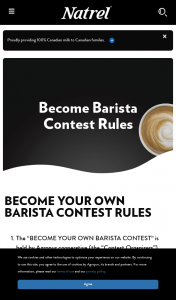 Win Natrel Become Barista Contest