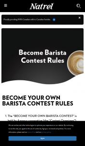 Win Natrel Become Barista Contest