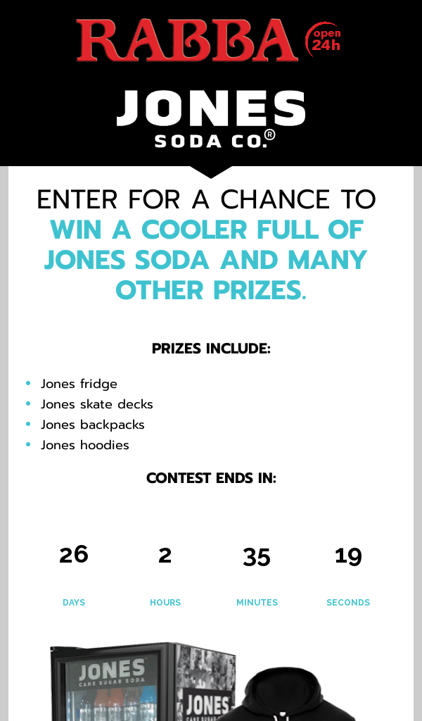 Win Rabba Foods Jones Soda Give Away Ontario ONLY Contest