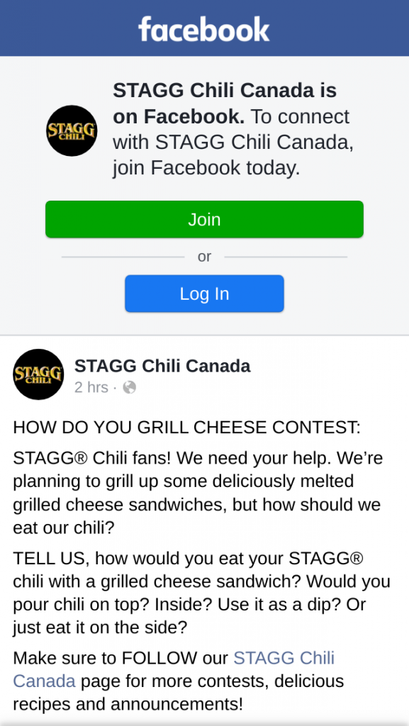 Win STAGG Chili Canada How Do You Grill Cheese Contest