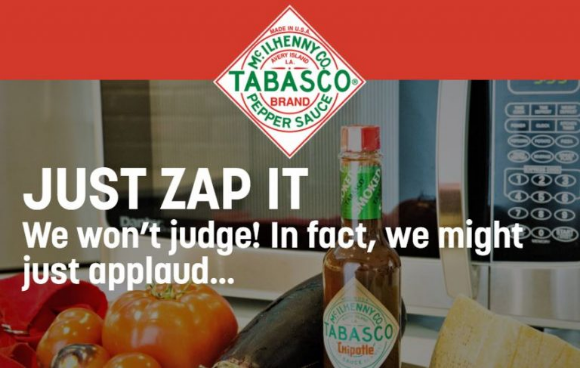 Zap it with Tabasco  – Win 1 of 15 Danby Microwaves