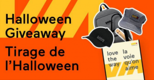 VIA Rail Halloween Giveaway – Win 1 of 2 prize packs