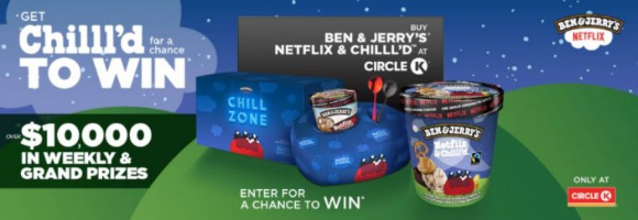 Ben & Jerrys Chill'd at Circle K Promotion – Win over $10,000 in weekly & grand prizes at chillldatcirclek.ca